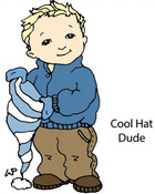 Cool Hat Dude Rubber Stamp - Little Darlings