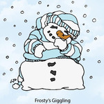 Frosty's Giggling Rubber Stamp - Little Darlings