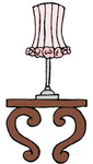 Table & Lamp Rubber Stamp - Little Darlings