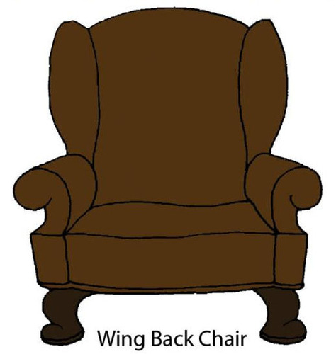 Wing Back Chair Rubber Stamp - Little Darlings