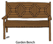 Garden Bench Rubber Stamp - Little Darlings