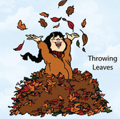 Throwing Leaves Rubber Stamp - Little Darlings