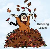 Throwing Leaves Rubber Stamp - Little Darlings