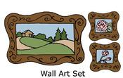 Wall Art Set Rubber Stamp - Little Darlings