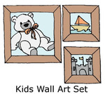Kids Wall Art Set Rubber Stamps - Little Darlings