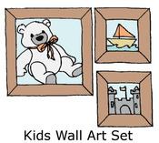 Kids Wall Art Set Rubber Stamps - Little Darlings