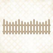 Country Chipboard Picket Fence - Blue Fern Studios