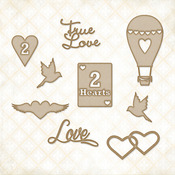 2 Hearts Set  - Blue Fern Studios