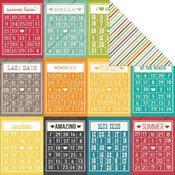 Bingo Cards-Stripe Paper - I {Heart} Summer - Simple Stories