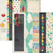 2x12 Border & 4x12 Title Strip Paper - I {Heart} Summer - Simple Stories