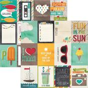 3x4 Journaling Card Elements Paper - I {Heart} Summer - Simple Stories