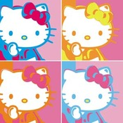 Hello Kitty 4 Square Sticker