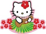 Hello Kitty Ukelele Sticker