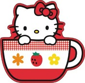 Hello Kitty Tea Cup Sticker