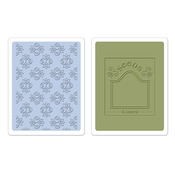 Rosebuds & Seed Packet Embossing Folders - Sizzix