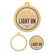 Light On Embossed Tag - Country Livin' - We R Memory Keepers