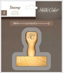 Currents - Wood Handle Mounted Stamp