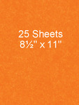 Electric Orange 8.5 x 11 - 25 Sheet Pack - Bazzill