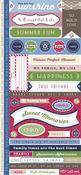 Vintage Summer Fresh Verse Stickers