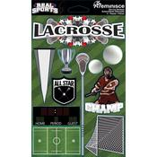 Lacrosse 3D Die Cut Stickers - Real Sports  - Reminisce