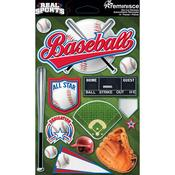 Baseball 3D Die Cut Stickers - Real Sports  - Reminisce