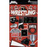Wrestling 3D Die Cut Stickers - Real Sports  - Reminisce