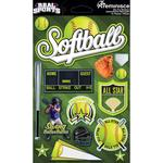 Softball 3D Die Cut Stickers - Real Sports  - Reminisce