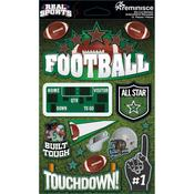 Football 3D Die Cut Stickers - Real Sports  - Reminisce