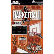 Basketball 3D Die Cut Stickers - Real Sports  - Reminisce