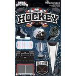 Hockey 3D Die Cut Stickers - Real Sports  - Reminisce