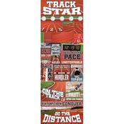 Track Star Die Cut Stickers - Real Sports  - Reminisce