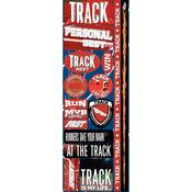 Track Combo Die Cut Stickers - Real Sports  - Reminisce