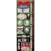 Baseball Combo Die - cut Stickers - Real Sports  - Reminisce