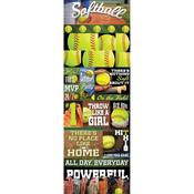 Softball Die - cut Stickers - Real Sports  - Reminisce