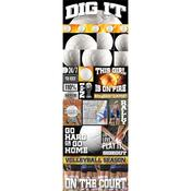 Dig It Volleyball Die - cut Stickers