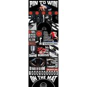 Pin To Win Wrestling Die - cut Stickers
