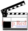 Movie Clapper Rubber Stamp - Deep Red Stamps