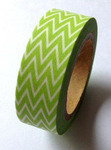 Lime Green Zig Zag Washi Tape - Love My Tapes