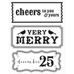 Cheers Clear Stamp - Holly Bright - KaiserCraft