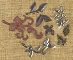 Leaves 2 Metal Embellishments - Prima
