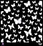 Butterflies 12 x 12 Stencil - Prima