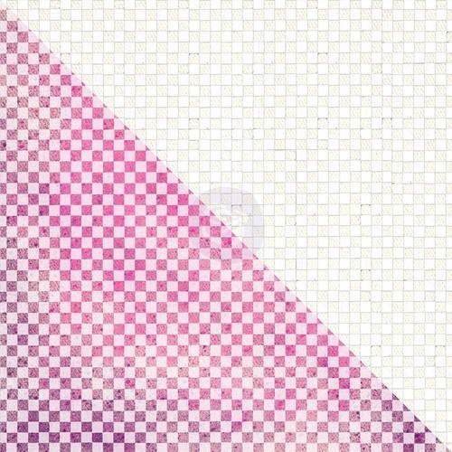 Checker White Resist Canvas Sheet - Elements - Prima