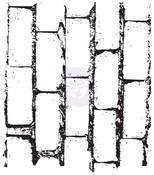 Bricks Clear Stamp - Vintage Vanity - Prima