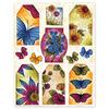 Winged Petals Stickeroos - Penny Black