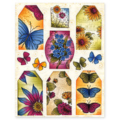 Winged Petals Stickeroos - Penny Black