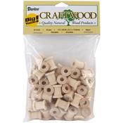 Mini Wooden Spools