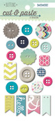 Loved Decorative Buttons - Cut & Paste - Adorbs - My Minds Eye