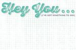 Hey You Journal Card - Charm - Cut & Paste - My Minds Eye