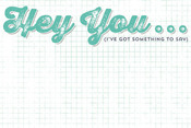 Hey You Journal Card - Charm - Cut & Paste - My Minds Eye