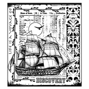 Voyage Of Discovery Red Rubber Stamp